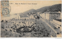 AJACCIO : Place Du Diamant Et Cours Grandval - Tres Bon Etat - Ajaccio