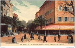 AJACCIO : L'avenue Du Premier Consul Et Le Grand Café D'ajaccio - Tres Bon Etat - Ajaccio