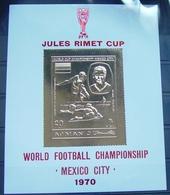 Ajman Block 194 **, Fußballweltmeisterschaft Mexiko - Sonstige - Afrika