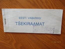 RARE! RUSSIA ESTONIA 1992 CHEQUE BOOK FOR 45 ROUBLES SUM ,  O - Estland