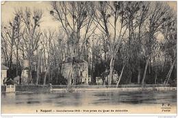 NOGENT-sur-MARNE : Inondation 1910 Vue Prise Du Quai De Joinville - Tres Bon Etat - Nogent Sur Marne