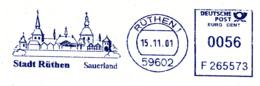 Freistempel 4349 Rüthen Sauerland Gebäude - Marcophilie - EMA (Empreintes Machines)