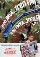 Catalogue PAYA 1977 Folder HO Ferrocarriles Electricos Made In Spain - En Espagnol - Livres Et Magazines