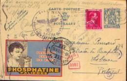 Carte Postale PUBLIBEL N° 525 Fr Ayant Circulé De BRUXELLES (IXELLES) Vers LISBONNE (06-05-1943) Avec Cachet De Censure - WW II