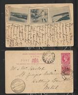 S.Africa, Natal.pictorial Postal Card, 1d, VRI 1d Stamp, BOKSBURG 16 FEB 01 > NEWCASTLE NATAL. JOHANNESBURG Transit - South Africa (...-1961)