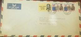 O) 1964 LIBERIA, PRESIDENT JOSEPH J. ROBERTS SC 328, PRESIDENT TUBMAN -STATUE OF LIBERTY AND FLAG - SC C141, TO USA - Liberia