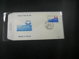 """BELG.1990 2364 FDC (Seraing) : """" Water Is Leven / L'eau C'est La Vie """" - 1981-90"""