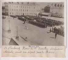 CHERBOURG 1ER BATAILLON D'INFANTERIE COLONIALE AVANT DEPART MAROC 18*13CM Maurice-Louis BRANGER PARÍS (1874-1950) - Guerra, Militares