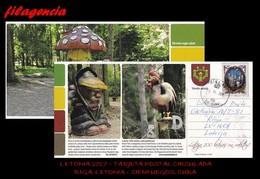 EUROPA. LETONIA. ENTEROS POSTALES. TARJETA POSTAL CIRCULADA 2017. RIGA. LETONIA-CIENFUEGOS. CUBA. ASTROFÍSICA - Letonia