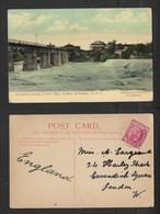S. Africa, Alexandra Bridge, Valsch River, Kroonstadt,O.R.C. Used 1d, MIDDELBURG  CAPE FE 8 09 > England - South Africa