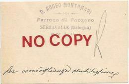 Castello Di Serravalle, Bologna, Biglietto Da Visita Di Don Aggeo Montanari Parroco Di Ponzano. - Cartoncini Da Visita
