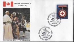 PAPAL VISIT - VISIT DU PAPE - 18.09.1984 - ANNULLO SPECIALE VANCOUVER - Primi Giorni (FDC)