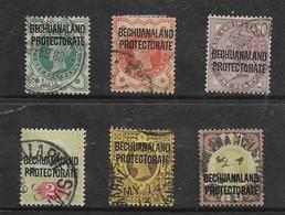 Bechuanaland, VR, 1897-1902, 1/2d - 4d, Used - Bechuanaland (...-1966)