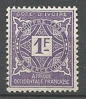COTE D'IVOIRE TAXE N° 16 NEUF* TRACE DE  CHARNIERE  / MH - Neufs
