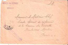 Seine Et Marne :- FONTAINEBLEAU SERVICE DES PENSIONS ET REFORMES 46° REGIMENT D'INFANTERIE - Marcophilie (Lettres)