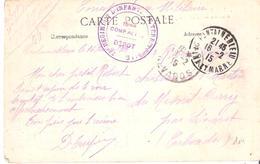Seine Et Marne :- FONTAINEBLEAU LE 4° REGIMENT D'INFANTERIE TERRITORIALE - Marcophilie (Lettres)