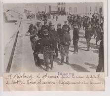 CHERBOURG LE GAL AMAR PASSE LA REVUE BATAILLON DU MAROC  18*13CM Maurice-Louis BRANGER PARÍS (1874-1950) - Guerra, Militares