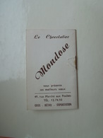 Chocolat Mondose Ancien Agenda Miniature De 1958 - Calendriers