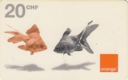 T253 - Switzerland, Prepaid, Orange, Goldfish, 20 CHF, Used, 2 Scans - Suiza