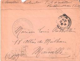 Seine Et Marne :- FONTAINEBLEAU 32°REG. D'ARTILLERIE 74° BATTERIE  TERRITORIALE - Marcophilie (Lettres)