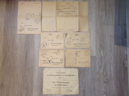 Dokument WW2 Verleihungsurkunde Der Luftwaffe Kampfabzeichen Der Flakartillerie 1945 Mit Feldpostbriefen Des Soldaten - Germania