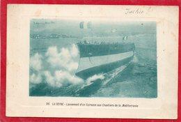 LA SEYNE FORGES ET CHANTIERS DE LA MEDITERRANEE LANCEMENT DU JUSTICE LE 17/07/1907 CUIRASSE DE 1ER RANG CLICHE UNIQUEOUI - La Seyne-sur-Mer