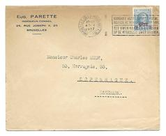 HOUYOUX 1,75 Fr /1,50 Fr  Nr 248  1.05.1927 Naar Denemarken - 1922-1927 Houyoux