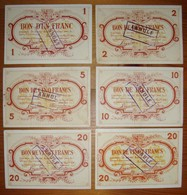6 Billets De Nécessité. Froidmont (Tournai) 1 2 5 10 Et 20 Frs 22/11/14 Et 20 Frs 04/12/15. - [ 3] Occupations Allemandes De La Belgique