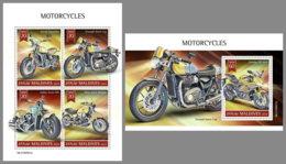MALDIVES 2019 MNH Motorcycles Motorräder Motos M/S+S/S - OFFICIAL ISSUE - DH1932 - Motorräder