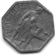 *notgeld  Bielefeld 5 Pfennig 1917  Zn    1501.1 /F40.1 - [ 2] 1871-1918 : Empire Allemand