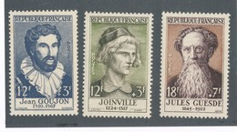 FRANCE - N°YT 1067+1108+1113 NEUFS** SANS CHARNIERE - COTE YT : 14€20 - 1956/57 - Nuovi