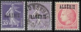 ALGERIE 1924-25  - YT 18 Et 24  - Neuf Et Oblitéré + 228 (N**) - Unused Stamps