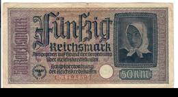 GERMANIA ALEMANIA GERMANY  50 REICHSMARK 1940-45   LOTTO 2714 - [ 4] 1933-1945: Derde Rijk