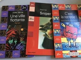 Lot De 3 Livres Collection Librio : Pavel Hak, Sniper - C'est La Rentrée, 16 écrivains ... - Jules Verne , Une Ville Flo - Lots De Plusieurs Livres