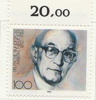 PIA  -  GERMANIA   -  1992  : Centenario Della Nascita Del Teologo Martin Niemoller   -  (Yv 1416) - Cristianesimo