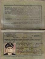 MILITARIA,permis MILITAIRE,ecole De Santé Navale De BORDEAUX,janvier 1958 (lot 272) - Historische Dokumente