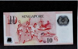 Ligned Cutting Error Singapore $10 Portrait Series Banknote Money UNC (#104) - Singapore