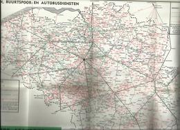 Belgique SNCB Carte Chemins De Fer, Vicinaux & Service D'Autobus 1964 Spoorwegen Publicité Bière Chasse Royale Auderghem - Cartes