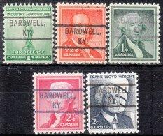 USA Precancel Vorausentwertung Preo, Locals Kentucky, Bardwell 804, 5 Diff. - Vereinigte Staaten