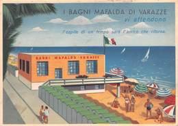 """09362"""" (SAVONA) VARAZZE - I BAGNI MAFALDA"""" PUBBLICITARIO ANIMATO - Pubblicitari"""