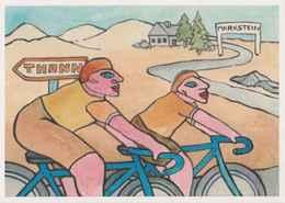 Cpm 1741/408 ERGON - Cyclistes - Vosges Markstein Thann - Bicyclette  - Vélo - Cyclisme - Bicycle - Cycle - Illustrateur - Ergon