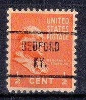 USA Precancel Vorausentwertung Preo, Locals Kentucky, Bedford 721 - Vereinigte Staaten