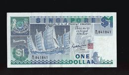 Singapore $1 Ship Series Banknote Money Repeater Lucky Number B/75 841841 (#94) - Singapore