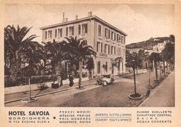 """09363"""" (IMPERIA) BORDIGHERA - ALBERGO SAVOIA"""" ANIMATO AUTO,UBBLICITARIO. FOTO A. FERROLI. CART NON SPED - Pubblicitari"""