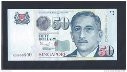 Singapore $50 Dollars Portrait Series Lucky Number Banknote 5DG909900 (#90) AU - Singapore