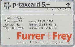 SUISSE - PHONE CARD - TAXCARD-PRIVÉE *** FURRER + FREY *** - Schweiz