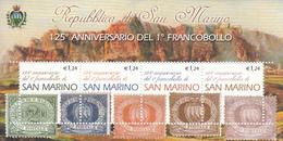 2002 San Marino Stamps On Stamps Souvenir Sheet  MNH  **BELOW FACE VALUE *** - Postzegels Op Postzegels