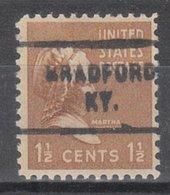 USA Precancel Vorausentwertung Preo, Locals Kentucky, Bradford 712 - Vereinigte Staaten