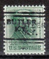 USA Precancel Vorausentwertung Preo, Locals Kentucky, Butler 701, Double - Vereinigte Staaten