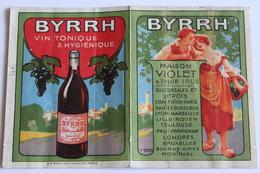 Calendrier Petit Format 1922 BYRRH  6,3cm X 8,5cm - Calendarios